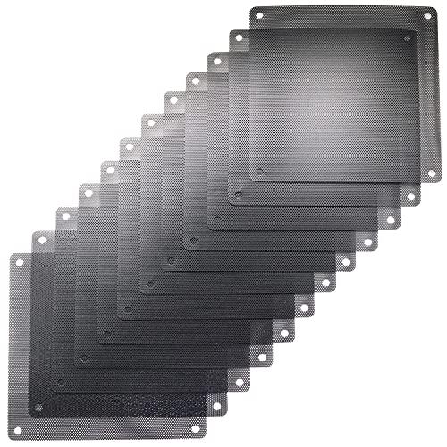 ThreeBulls 12 unids 80mm PVC negro PC refrigerador ventilador filtro polvo cubierta cubierta de la computadora malla