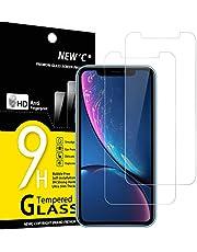 """NEW'C 2 Unidades, Protector de Pantalla para iPhone 11 y iPhone XR (6.1""""), Antiarañazos, Antihuellas, Sin Burbujas, 9H, 0.33 mm, Vidrio Templado Ultra Resistent y Transparent"""