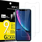 NEW'C Lot de 2, Verre Trempé Compatible avec iPhone 11 et iPhone XR (6.1'), Film Protection écran sans Bulles d'air Ultra Résistant (0,33mm HD Ultra Transparent) Dureté 9H Glass