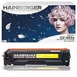 Hainberger–Tóner amarillo para cf402X para HP Color LaserJet Pro m252dw Pro 200m252N Impresora láser compatible con CF de 400x CF de 401x CF de 402x CF de 403X, color 2.300