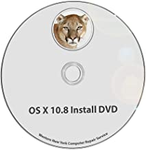 Mac OS X 10.8 Mountain Lion Full OS Install - Reinstall/Recovery Upgrade Downgrade/Repair Utility Factory Reset Disk Drive Disc CD DVD v. 10.8.5 Utility