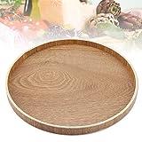 Bandeja redonda de bambú para servir té, cena, desayuno, frutas, caramelos, alimentos 30 cm