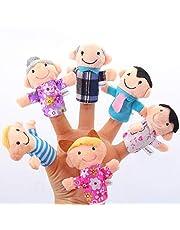 Vektenxi zestaw lalek z palcem dla niemowląt laleczki dla rodziny ludzie z miękkimi palcami lalki dla niemowląt zabawki edukacyjne dla dzieci 6 sztuk opłacalne i dobra jakość wyśmienite rzemiosło