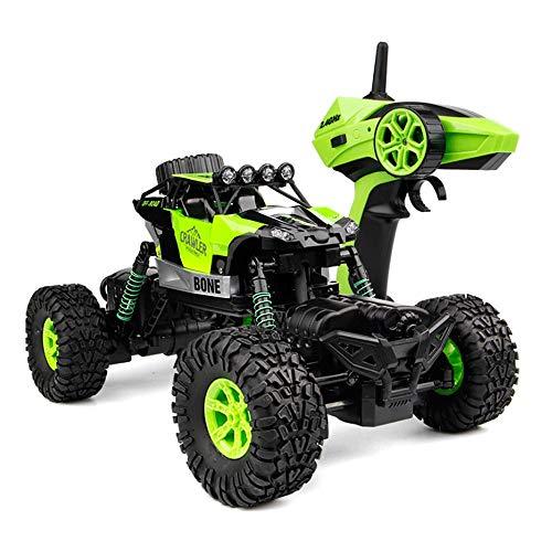 YANDFXSOP Coche Recargable Recargable inalámbrico RC Monster Trake 2.4G 4WD Frente y Trasero Doble dirección Impermeable a Prueba de Agua Buggy para la Nieve Gravel Pastland