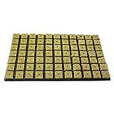 1x grodan Tray 77 unidad de cultivo de lana de piedra por bloque 4 cm x 4 cm en carcasa de plástico 53 cm x 32 cm, incluye greenception Crecimiento abono 100 g