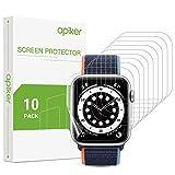 Apiker [10 Pezzi] Pellicola Protettiva per Apple Watch Series 6/5/4 e Apple Watch SE, 44mm, Protezione Schermo in TPU [Alta Definizione], [Massima Copertura], [Tocco Sensibile], [Senza Bolle]