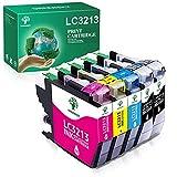 GREENSKY Cartucho de Tinta Compatible de Repuesto para Brother LC3213 LC3211 LC 3213 LC 3211 para Brother MFC-J497DW DCP-J572DW MFC-J890DW MFC-J491DW DCP-J772DW DCP-J774DW MFC-J895DW(5 Paquetes)