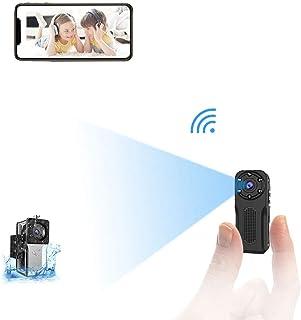 Mini Camara Espia Oculta WiFi Acuatica NIYPS 1080P Full HD Cámara Vigilancia Portátil Secreta Compacta con Detector de Movimiento IR Visión Nocturna Camara IP de Seguridad Pequeña Interior/Exterior