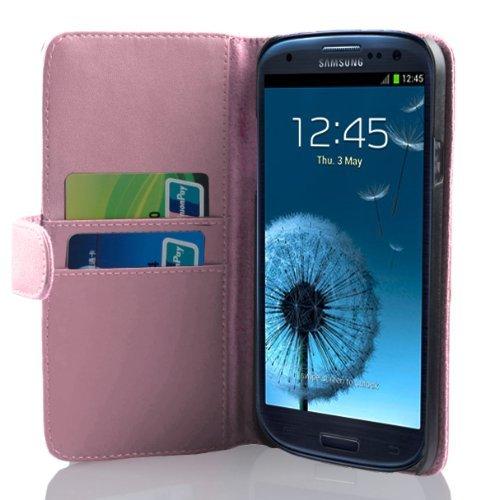Cadorabo Custodia Libro per Samsung Galaxy S3 / S3 Neo in Rosa Fucsia - con Vani di Carte e Funzione Stand di Similpelle Fine - Portafoglio Cover Case Wallet Book Etui Protezione