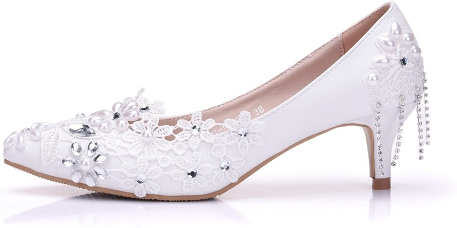 Wedding Bridal shoes Crystals Diamonds Trimmed Women's shoes for Wedding