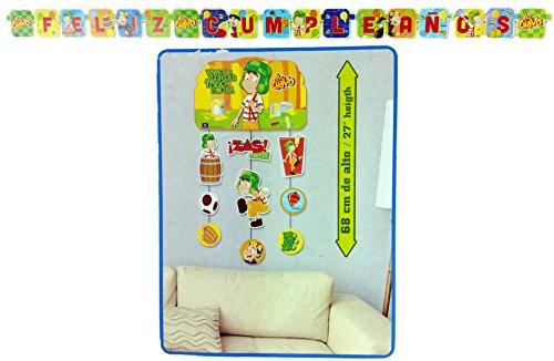 El Chavo Del Ocho Birthday Banner and Wall Decoration (11 Pieces)
