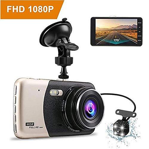 Mengen88 Auto DVR 1080p FHD IPS-scherm met 170 graden groothoek met nachtzicht, camera met dubbele opname voor en achter op het voertuig gemonteerd