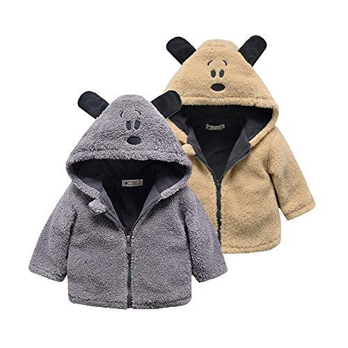 Ramingt-Clothing Veste à Capuche Kid Veste for Enfants bébé d'hiver à Capuchon Manteau d'hiver Guerre Veste à Capuche Vestes Manteaux Manteau d'hiver Mince (Color : Gray, Size : 100cm)