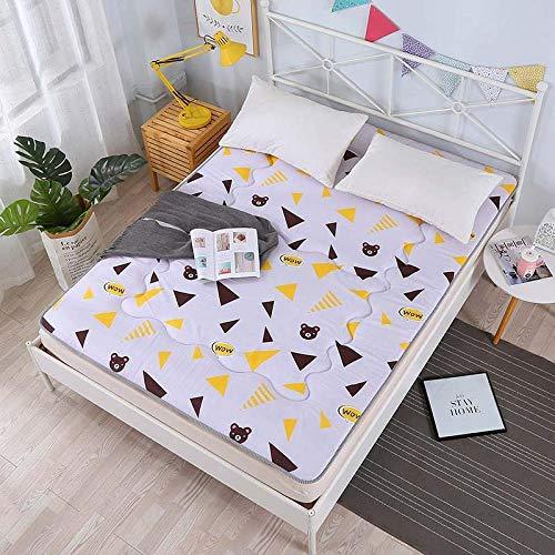 Zlzty Eenpersoonsbed met topper van geheugenschuim, dikke tattami, antislip matras, opvouwbaar, slaapplaats voor studenten