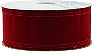 """Berwick Offray Wired Velvet 6"""" Wide X 20 Yards-Holiday Red Ribbon"""