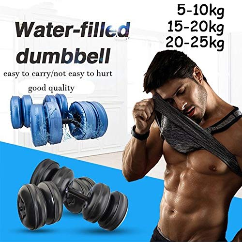 ELUCHANG Water Filled Dumbbells,Adjustable Dumbbells Fitness Exercise Equipment for Sports Weightlifting Home Gym Arm Muscle Strength Training