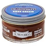 [エム・モゥブレィ] シューケア 靴磨き 栄養 保革 補色 ツヤ出しクリーム シュークリームジャー ミディアムブラウン 50ml