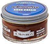 [M.モゥブレィ] シューケア 靴磨き 栄養 保革 補色 ツヤ出しクリーム シュークリームジャー ミディアムブラウン 50ml