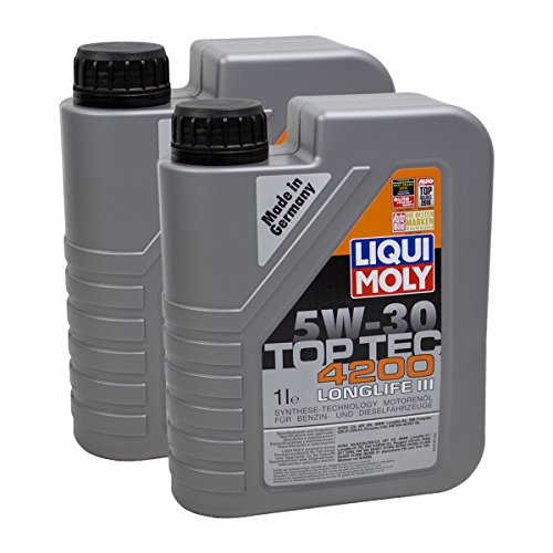 2x LIQUI MOLY 3706 Top Tec 4200 5W-30 Motoröl