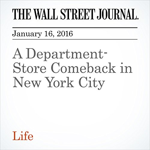 A Department-Store Comeback in New York City cover art