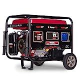Böhmer-AG 8000W-E - Grupo Electrógeno Versátil a Gasolina con Llave eléctrica - Uno 32 Amp y Uno Adaptador EU Enchufe - 7500 W - 9,5 kVA - 13 HP