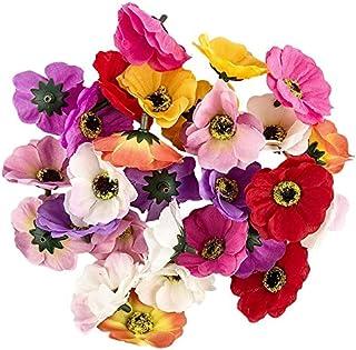 Idées avec des fleurs décoratives en forme de cœur - Fleurs artificielles - Tête de fleurs - Différents types - Diamètre :...