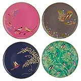 Sara Miller para Portmeirion Chelsea - Platos para tartas (cerámica, multicolor, 215 x 215 x 60 cm)