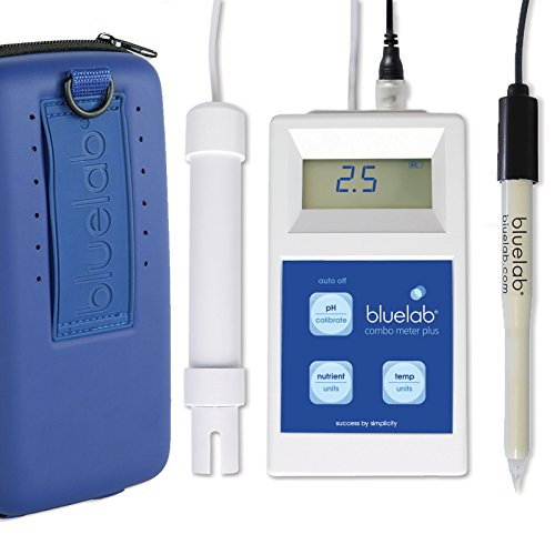 Bluelab Combo Meter Plus - Handheld Digital Hydroponic Nutrient and pH Meter for Measuring pH Levels, Conductivity & Temperature in Soil & Plants - Accurate pH Measurements - Bonus Carry Case Included