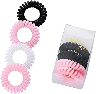 The Cheapest Price 10 Pcs 5.5cm Black Editing Hair Tools Telephone Wire Hair Ring Extra Large Rubber Band Headband Hair Accessories Wristband Braiders
