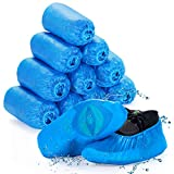 Shoe Covers Disposable Non Slip, OMDEX 100 Pack (50 Pairs) Shoe & Boot Covers Waterproof Slip Resistant, Durable for Medical, Construction, Offices, Indoor Floor Carpet Protection, One Size Fits All
