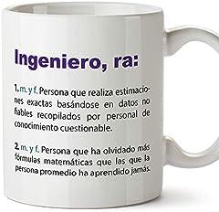 MUGFFINS Tazas Desayuno Originales de Profesiones para Regalar a Trabajadores Tazas para Ingenieros - Tazas con Frases y Mensajes alegres y Divertidos