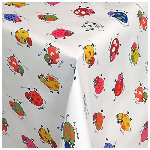 MODERNO Wachstischdecke Wachstuch Tischdecke Gartentischdecke abwaschbar eckig 180x140 cm Bunte Kühe Motiv