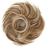 PRETTYSHOP Hairpiece Scrunchie Bun Up Do | Ponytail Extensions | Wavy Curly or Messy (Blonde Mix 27T613)