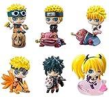 Qwead 6 Piezas Anime Naruto Shippuden El Último Uzumaki Naruto Uchiha Sasuke Namikaze Minato Figuras...