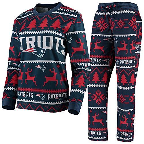 New England Patriots NFL Family Holiday Pajamas - Womens - XL