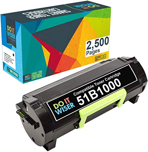 Do it Wiser Compatible Toner Cartridge Replacement for Lexmark 51B1000 Lexmark MS317dn MS417dn MS517dn MS617dn MX317dn MX417de MX517de MX617de (2.500 Pages)