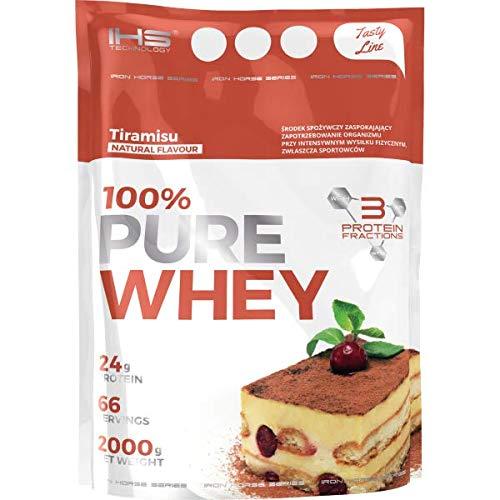 Iron Horse 100% Pure Whey - 1 paquete - Complejo de proteína de suero - WPI, WPC, WPH - Soporte para el desarrollo corporal - Masa muscular - Perfil completo de aminoácidos - Con BCAA (Almond, 2000g)