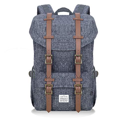 Vintage Rucksack, VENTCY Rucksack Herren 13 Zoll Laptop Rucksack 18L Rucksack Uni Damen Daypack Wasserabweisend Backpack für Freizeit Outdoor Reise, Rucksack Outdoor