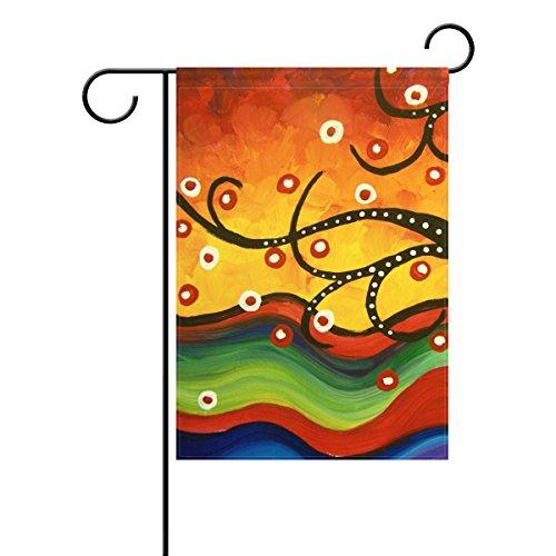 Bennigiry Art Arbre décoratif coloré mulitcolor lumineux mignon Jardin Drapeau, Polyester filé, multicolore, 12x18(in)