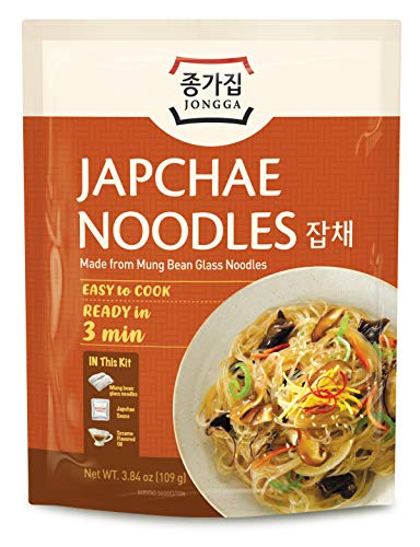 Jongga Japchae Nudeln, Koreanische Instant-Glasnudeln 109 g (20 PACK) - Jetzt 1+1 Kostenlos