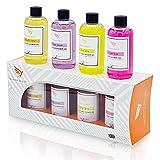 Coffrets cadeaux de gel douche pour femmes - 4 x 100 ml de gel pour le corps U.K Made Gel douche...