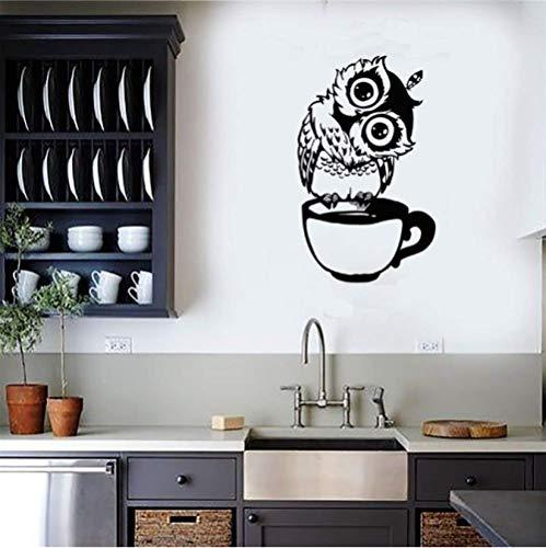 STPillow Muurstickers - Cartoon Uil gesneden woonkamer slaapkamer keuken achtergrond decoratie behang Home Decor Muurschildering afneembaar