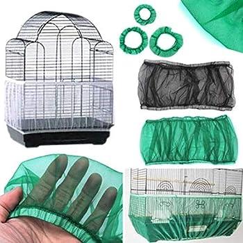 WiseGoods - Housse de cage à oiseaux haut de gamme pour cage à oiseaux, filet de protection en maille, housse de cage pour oiseaux - Vert