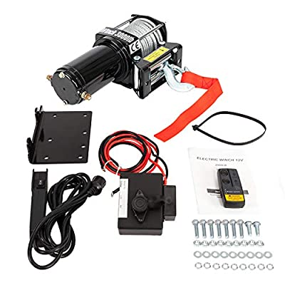 BEMOFRLAY 2500lb.Load Capacity Electric Winch,ATV/UTV Winch for Towing SUV Off Road with Mounting Bracket Wireless Remote Control