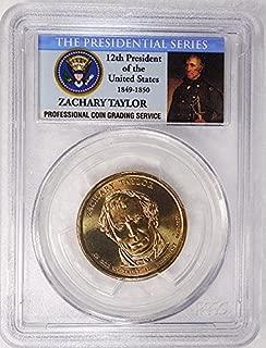 2009 D Pos. A Zachary Taylor Presidential Dollar PCGS MS 66 FDI Presidential Label Holder