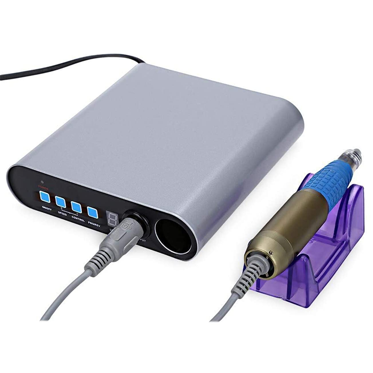 第三温度計無能25000 rpmプロフェッショナル電気100/220ボルトネイルファイルドリルマニキュアペディキュアマシンサロンツールキット高品質ネイルアートジェル