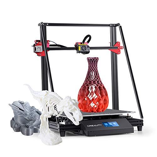 Creality 3d cr-10 max desktop 3d Imprimante 3D Support Auto Leveling Reprise avec lit chauffant écran tactile 8 g Carte tf et sonde pla Blanc (450 x 450 x 470 mm)