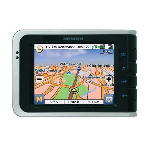 Medion Gopal PNA 515 M-II Mobiles PNA Navigationssystem 1GB SD Karte West Europa (Bluetooth und Freisprecheinrichtung)