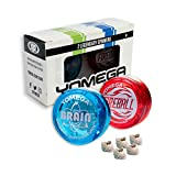 2 Legendary Yomega Spinners The Original Yoyo With A Brain And Fireball Transaxle Yo-Yo. Perfect Gift For Kids, Beginner, Intermediate And Pro Level String Trick Play. Includes 5 Extra Strings