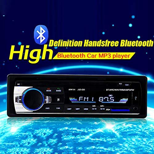 XuBa Bluetooth de Voiture Lecteur MP3 Audio Stéréo 4 x 60 W Radio de Voiture 12 V Intégré au Tableau de Bord 1 DIN FM entrée auxiliaire récepteur